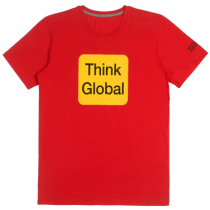 T-shirt Think Global - Rouge