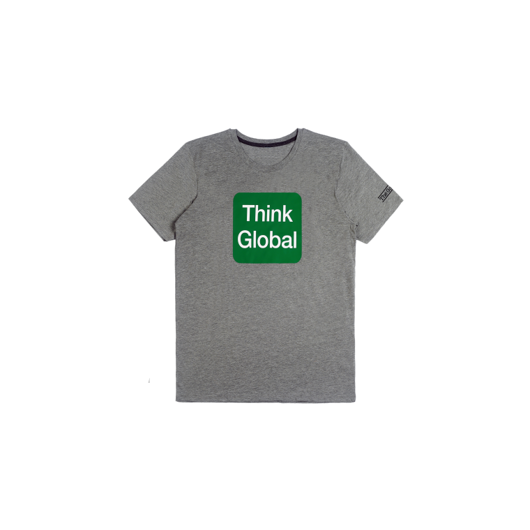 T-shirt Think Global - Gris