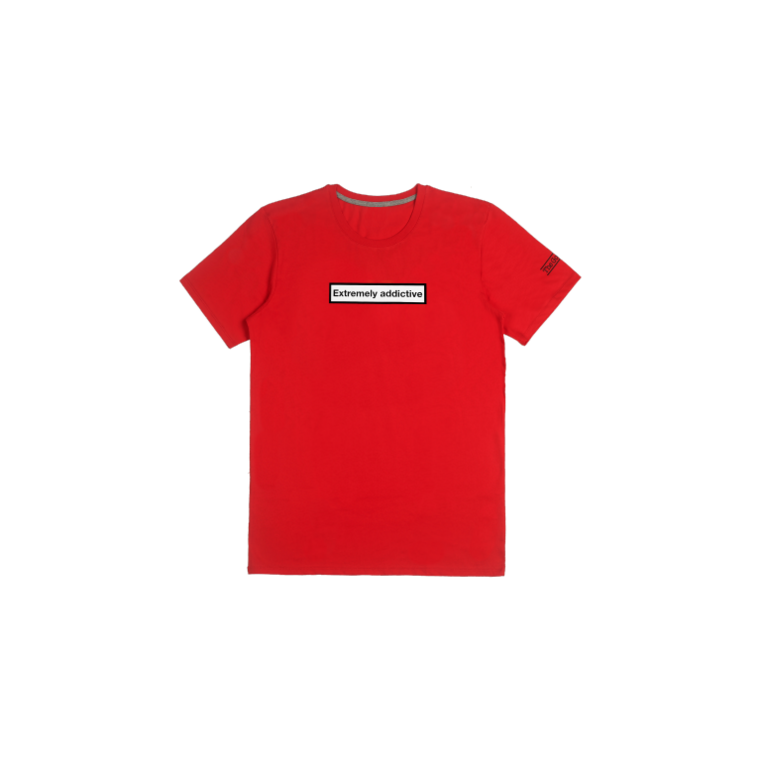 T-shirt Extremely Addictive - Rouge
