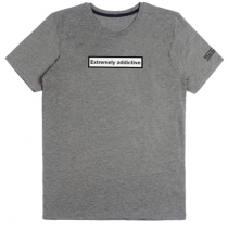 T-shirt Extremely Addictive - Gris