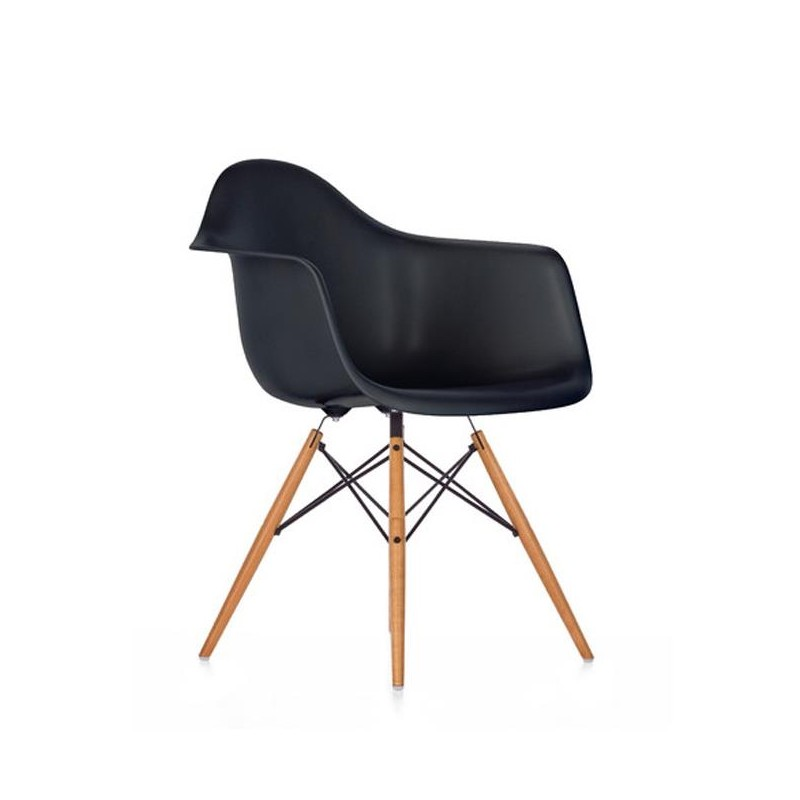 fauteuil eames plastic arm chair daw noir vitra. Black Bedroom Furniture Sets. Home Design Ideas