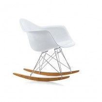 Fauteuil Eames Plastic Arm Chair Rar - Blanc