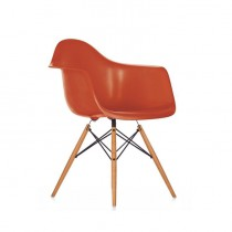 Fauteuil Eames Plastic Arm Chair Daw - Orange