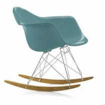 Fauteuil Eames Plastic Arm Chair Rar - Bleu Ocean