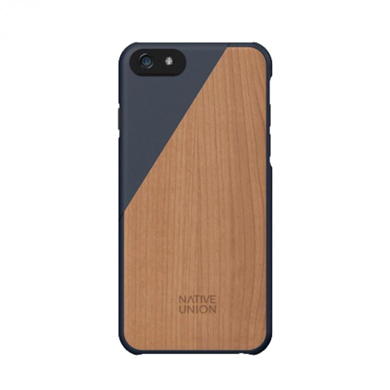 Coque iPhone Clic Wooden - Aquamarine