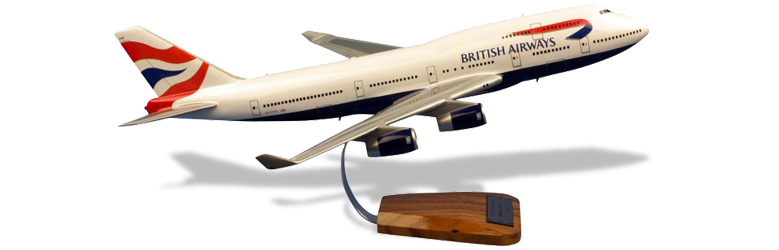 Maquette Boeing 747 British Airways - Pilot's Station